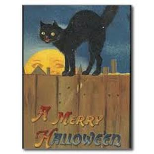 Halloween Postcard Black Cat