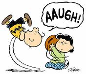 Charlie Brown Lucy football