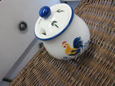 Sugar bowl rooster Provence