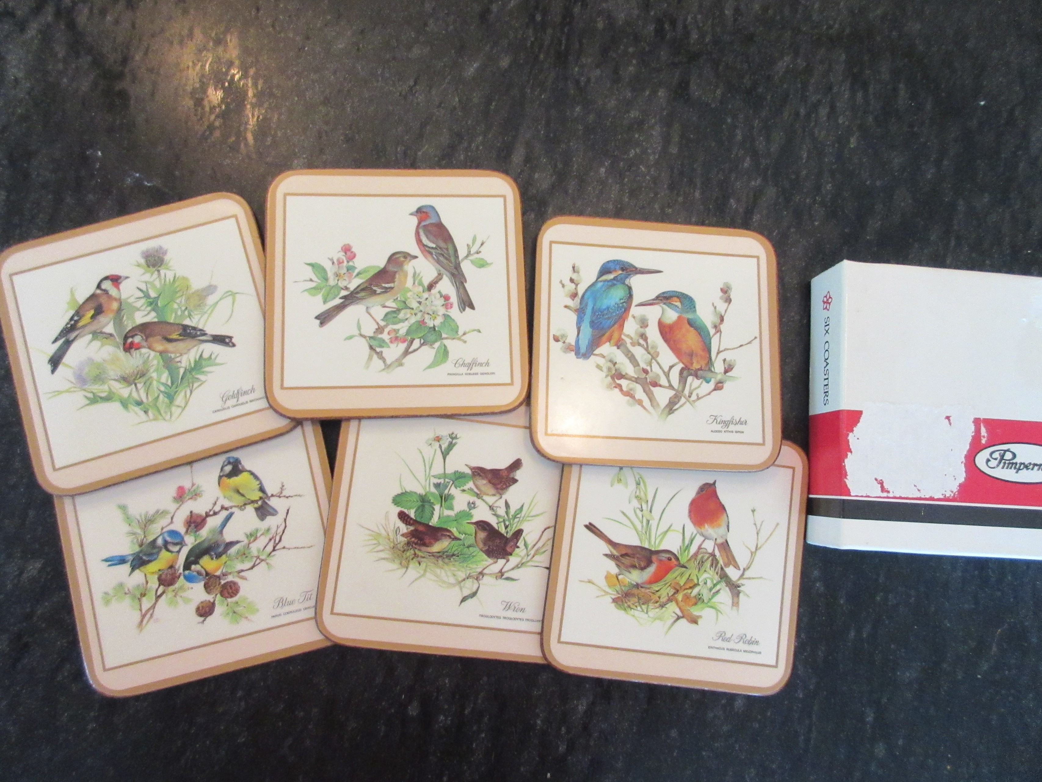 Vintage Pimpernel Coasters Birds England - Coasters made from photos