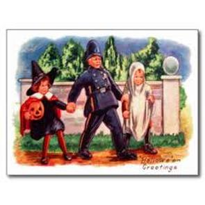 Halloween Postcards Trick or Treaters
